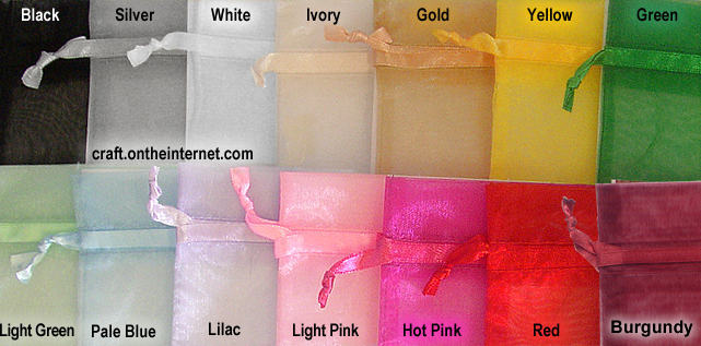 Organza colour chart